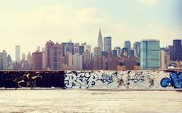 Концепция сцены городского горизонта городского пейзажа городская Стоковое фото RF