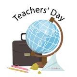 Концепция счастливого дня учителя s смешная Вектор запаса Стоковая Фотография