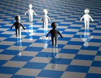 Концепция сыгранности абстрактная с иллюстрацией сини доски Стоковые Фотографии RF
