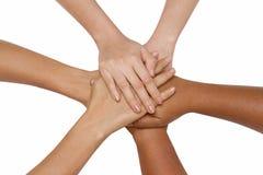 Концепция сыгранности, руки команды дела соединяя держа совместно co Стоковая Фотография RF
