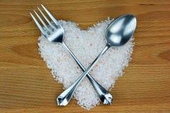 Концепция с гималайским солью Стоковые Фотографии RF