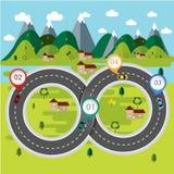 Концепция следов природы infographic Стоковое Изображение RF