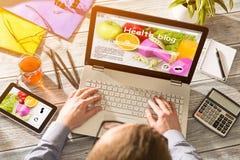 Концепция словаря цифров средств массовой информации Weblog блога онлайн стоковая фотография