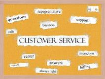 Концепция слова Corkboard обслуживания клиента бесплатная иллюстрация