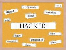 Концепция слова Corkboard хакера иллюстрация вектора
