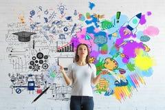 Концепция творческий и аналитический думать стоковые изображения
