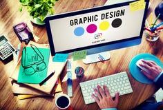 Концепция творческих способностей графиков дизайна чернил CMYK Стоковые Фотографии RF