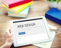 Концепция творческих способностей плана домашней страницы дизайна вебсайта Стоковые Изображения