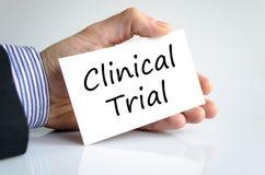 Концепция текста клинического испытания стоковые изображения