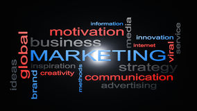 Концепция текста облака слова стратегии бизнеса маркетинга Стоковое Изображение RF
