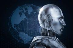 Концепция технологии глобализации бесплатная иллюстрация