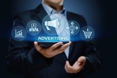 Концепция технологии дела маркетингового плана рекламы клеймя стоковое фото