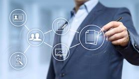 Концепция технологии интернета дела системы данным по управления документооборотом Стоковое Изображение