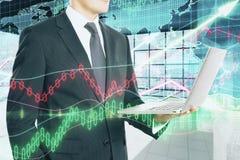 Концепция технологии и финансов Стоковые Фото
