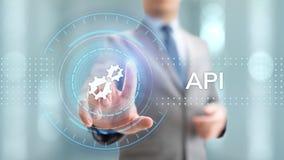 Концепция технологии развития интерфейса программирования приложений API стоковое фото