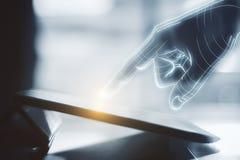 Концепция технологии, AI и нововведения стоковая фотография rf
