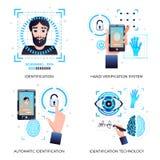 Концепция технологий идентификации иллюстрация вектора