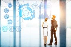 Концепция технологии, будущего, нововведения и связи Стоковая Фотография RF