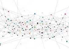 Концепция технологии вектора Соединенные линии и точки Знак сети бесплатная иллюстрация