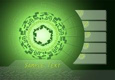 Концепция технологии дизайна и данных по цифров infographic Стоковое Фото