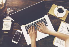 Концепция технологии интернета делового сообщества Стоковая Фотография RF