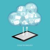 Концепция технологии облака Стоковое Изображение
