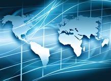 Концепция технологии производства телевидения и интернета Стоковое Изображение RF