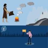 Концепция технологии, развитие сообщения между человеком - Ve бесплатная иллюстрация