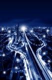 Концепция технологии сети и соединения трёхзубца Sathorn Стоковые Изображения