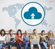 Концепция технологии соединения глобализации облака вычисляя Стоковая Фотография