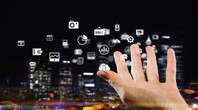 Концепция технологии средств массовой информации всемирная Мультимедиа Стоковое Изображение