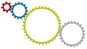 Концепция технологии с шестернями на белой предпосылке