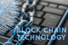Концепция технологии цепи блока стоковые фотографии rf