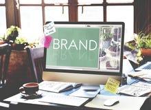 Концепция товарного знака профиля маркетинга клеймя ярлыка бренда Стоковое Фото