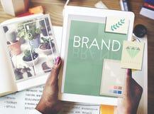 Концепция товарного знака профиля маркетинга клеймя ярлыка бренда Стоковые Изображения RF