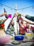 Концепция торжества официальныйа обед лета пляжа Стоковое Изображение RF