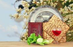 Концепция торжества Pesah & x28; еврейское holiday& x29 еврейской пасхи; Стоковые Фотографии RF