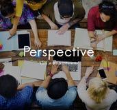 Концепция точки зрения точки зрения точки зрения ориентации перспективы стоковые фотографии rf