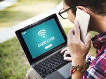 Концепция Точки доступа доступа соединения Wifi интернета Стоковые Фото