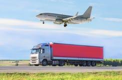 Концепция транспорта, импорт-экспорта и поставки Стоковые Фото