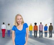 Концепция тренера команды разнообразия руководства тренируя Стоковое Изображение