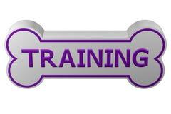 Концепция: тренировка собаки перевод 3d бесплатная иллюстрация