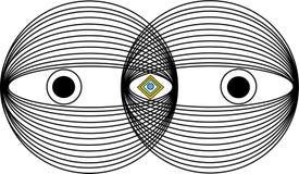 Концепция третьего глаза стоковое фото