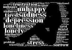 Концепция убийств депрессии стоковое изображение rf