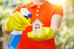 Концепция убирать дом Стоковое Изображение RF