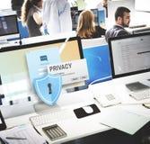 Концепция уединения безопасностью предохранения от уединения конфиденциальная Стоковая Фотография RF