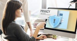 Концепция уединения безопасностью предохранения от уединения конфиденциальная стоковая фотография