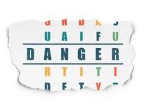 Концепция уединения: Опасность в кроссворде бесплатная иллюстрация