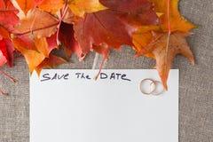 Концепция украшения свадьбы 1 приглашение карточки Стоковые Фотографии RF