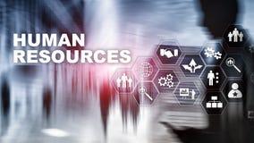 Концепция управления HR человеческих ресурсов Бассейн человеческих ресурсов, забота клиента и работники стоковая фотография